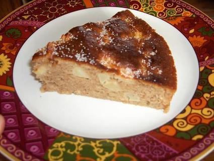 Recette de gâteau aux pommes à la farine de châtaigne