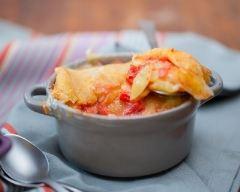 Recette cocottes de tartiflette à la tomate