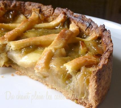 Recette de tarte pommes-rhubarbe ou szarlotka