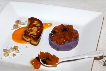Recette escalope de foie gras poêlée, confiture de butternut et ...