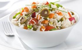 Salade de riz colorée pour 6 personnes
