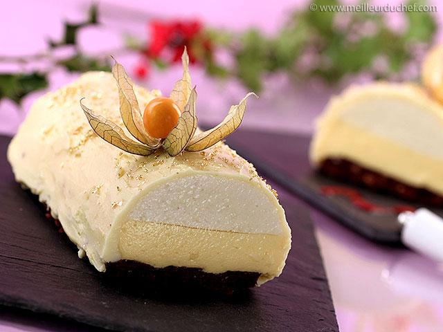Bûche de noël passion, poire, chocolat blanc  la recette illustrée ...