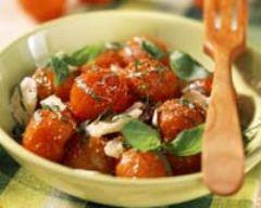 Recette tomates cerises poêlées au basilic