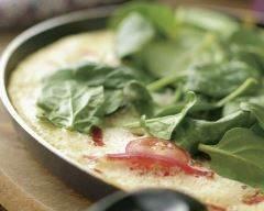 Recette omelette légère aux épinards