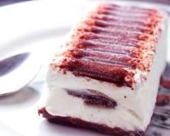 Recette bûche glacée à la vanille et croquant au chocolat