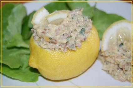Recette de citrons farcis aux sardines