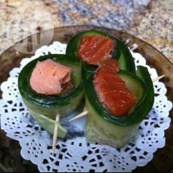 Recette bouchées au saumon fumé et concombre – toutes les ...
