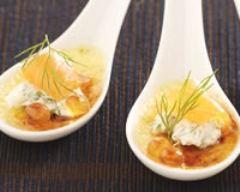 Recette crème brûlée au saumon fumé