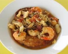 Recette soupe italienne de poisson et fruits de mer sans gluten