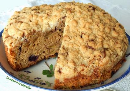 Recette de gâteau crumble aux pommes irlandais  irish apple ...