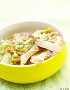 Thon guacamole en tartines pour 6 personnes