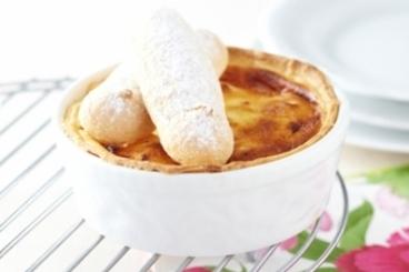 Recette de gâteau au fromage blanc et biscuit à la cuillère facile et ...