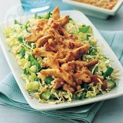 Recette salade de poulet satay – toutes les recettes allrecipes
