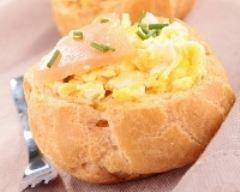 Recette choux farcis aux œufs brouillés et au saumon