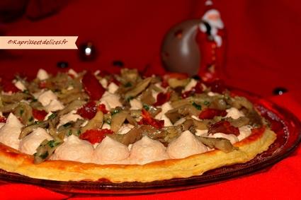 Recette de tarte fine foie gras, pleurotes et chips de jambon de ...
