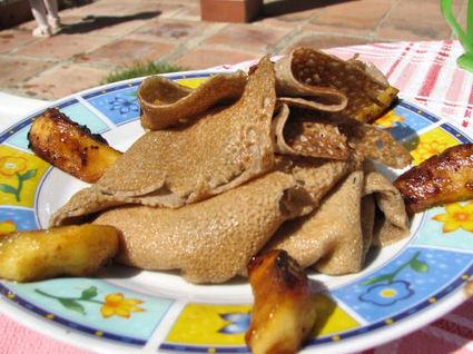 Recette de tourbillon de galette aux pommes caramélisées