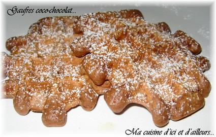 Recette de gaufres coco-chocolat