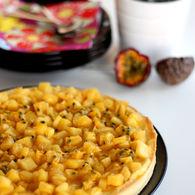 Recette de tarte mangue, ananas et passion