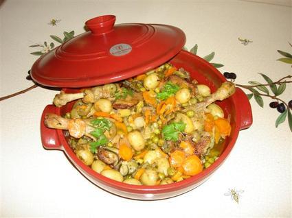 Recette de cuisses de canard et petits légumes au citron confit et ...