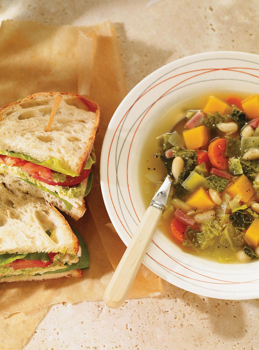 Minestrone de légumes d'hiver   ricardo