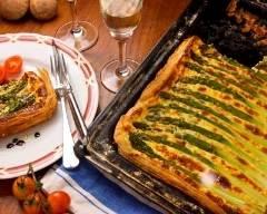 Recette tarte feuilletée aux asperges et au fromage