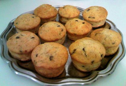 Recette de muffins à la banane et pépites de chocolat