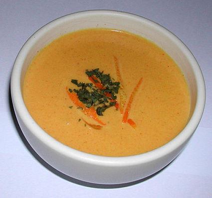 Recette de crème de carottes curry-coco
