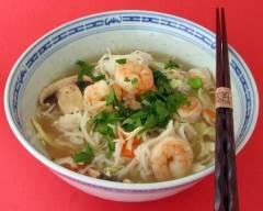 Soupe orientale aux crevettes pauvre en sel | cuisine az