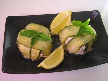 Recette de charlottes de courgettes au saumon