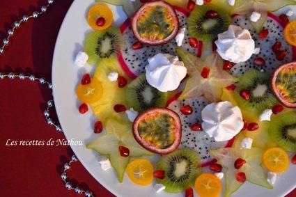 Recette de carpaccio de fruits exotiques, rhum et citron vert
