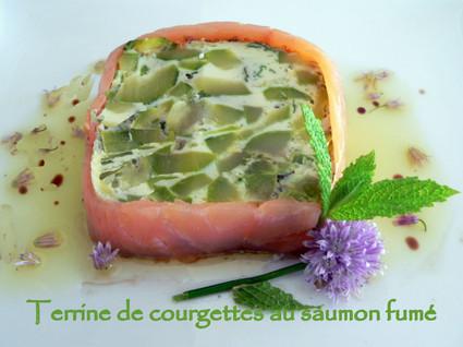 Recette de terrine de courgettes au saumon fumé