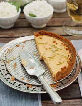 Key lime tarte (tarte citron vert) pour 8 personnes
