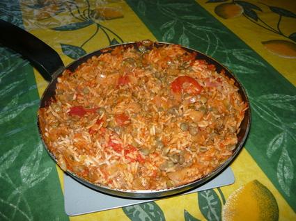 Recette de colombo de riz aux lentilles et à la tomate