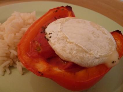 Recette de poivron farci à la tomate et au chèvre