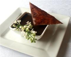 Recette mousse chocolat-jasmin et son croquant