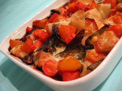 Recette de tartiflette de légumes confits