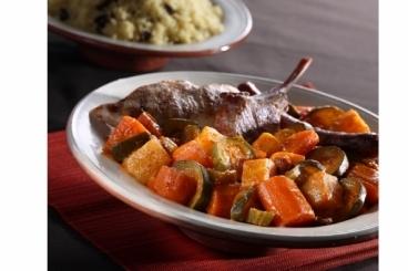 Recette de royal de couscous et légumes compotés rapide