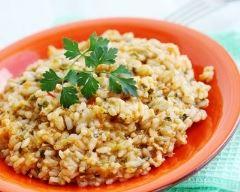 Recette risotto au poulet à la moutarde