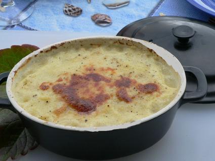 Recette de purée de pâtisson et courgette au gratin