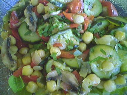 Recette de salade de pois chiches à la provençale