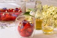 Recette de salade de fraises au sirop de sureau
