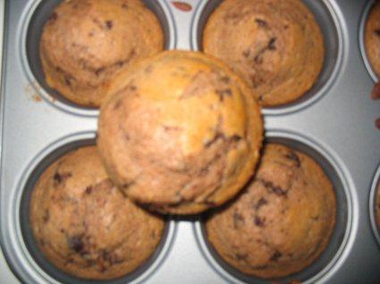 Recette de muffins au chocolat-banane