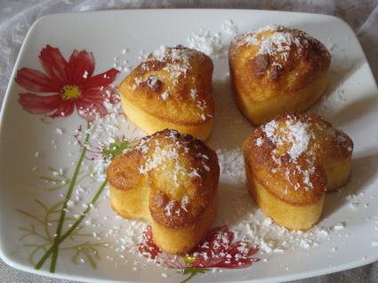 Recette de muffins à la noix de coco râpée