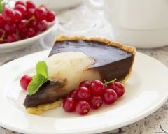 Recette tarte aux poires et au chocolat