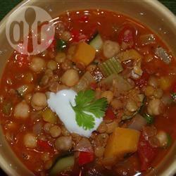 Recette soupe aux lentilles et aux pois chiches façon marocaine ...
