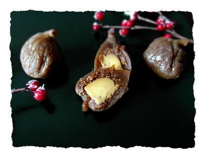 Recette de figues au monbazillac, fourrées au foie gras.