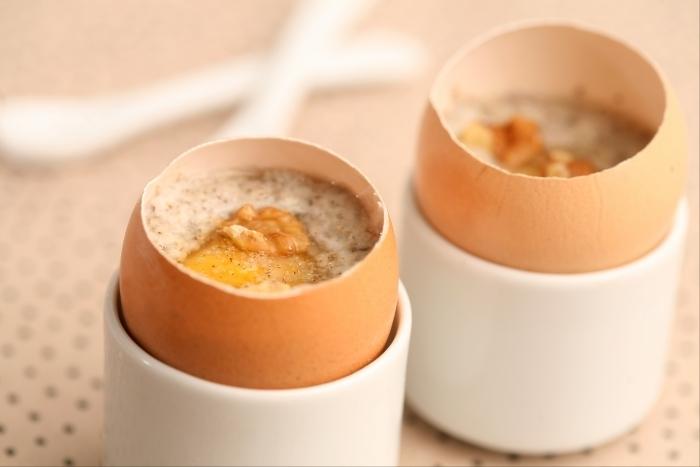 Recette de oeuf cocotte cuit dans sa coquille, crème aux ...