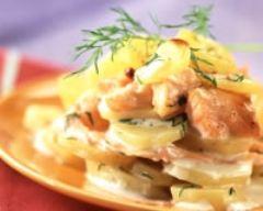 Recette lasagnes de pommes de terre aux deux saumons