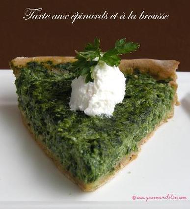 Recette de tarte aux épinards et à la brousse
