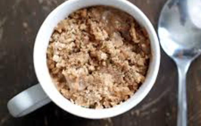 Recette mug crumble pas chère et express > cuisine étudiant